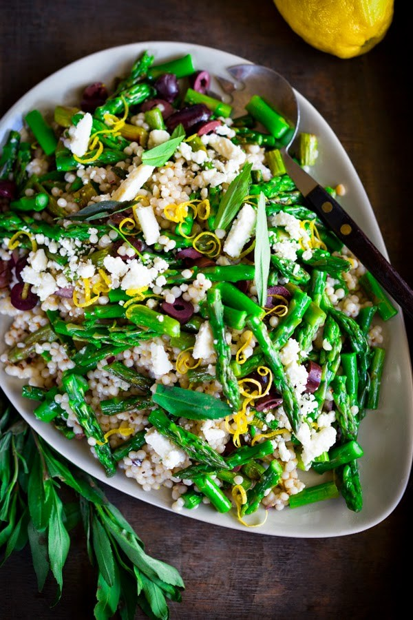Spring Asparagus Salad PC: feasting at home